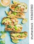 healthy corn tortillas with...   Shutterstock . vector #543603583