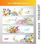 Set Of Abstract Colorful Web...