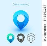 vector pointer logo icon design.... | Shutterstock .eps vector #543641287
