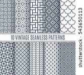 blue line seamless pattern...   Shutterstock .eps vector #543650113