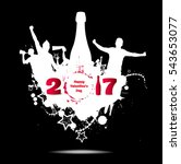 happy new year 2017 banner for... | Shutterstock .eps vector #543653077