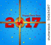 modern happy new year 2017... | Shutterstock .eps vector #543654397