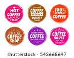 coffee  espresso symbols. set... | Shutterstock .eps vector #543668647