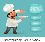 menu buttons interface chef... | Shutterstock .eps vector #543676567