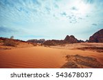 great view with red rocks and... | Shutterstock . vector #543678037