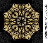mandala. gold round ornament... | Shutterstock .eps vector #543679933