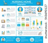 nursing home infographics... | Shutterstock . vector #543690127