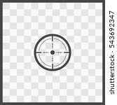 sight vector icon. isolated... | Shutterstock .eps vector #543692347