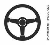 steering wheel icon | Shutterstock .eps vector #543707323