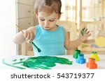 cute little toddler child... | Shutterstock . vector #543719377