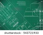 blueprints. mechanical... | Shutterstock .eps vector #543721933
