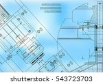 blueprints. mechanical... | Shutterstock .eps vector #543723703