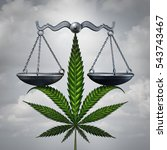 marijuana law concept as a... | Shutterstock . vector #543743467