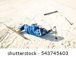 professional skier after crash... | Shutterstock . vector #543745603