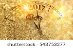new year clock counting down... | Shutterstock . vector #543753277