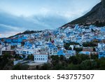 cityscape of the blue city of... | Shutterstock . vector #543757507