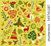 vector collection of christmas... | Shutterstock .eps vector #543761287