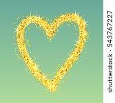 vector gold heart on green...   Shutterstock .eps vector #543767227