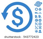 chargeback icon with bonus... | Shutterstock .eps vector #543772423
