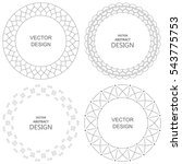 set of monogram line vintage... | Shutterstock .eps vector #543775753