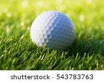 closeup golf ball on grass  | Shutterstock . vector #543783763