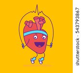 happy smiling heart logotype....   Shutterstock .eps vector #543793867