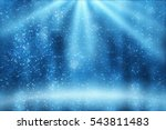 stage light and blue glitter... | Shutterstock . vector #543811483