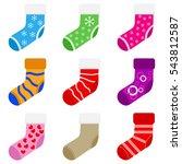 socks  socks for christmas... | Shutterstock .eps vector #543812587