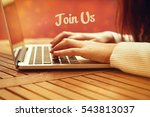 join us  technology concept | Shutterstock . vector #543813037
