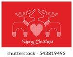 vector xmas cute greeting card... | Shutterstock .eps vector #543819493