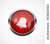 alarm icon with ringing bell.... | Shutterstock .eps vector #543822463