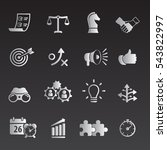 strategy and business icon set | Shutterstock .eps vector #543822997