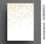 gold confetti polka dot... | Shutterstock .eps vector #543839017