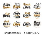 beer logo. vector labels and... | Shutterstock .eps vector #543840577