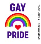vector gay pride lgbt rights... | Shutterstock .eps vector #543846043
