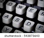 Closeup Of Vintage Typewriter...