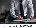 businessman  writing in notepad | Shutterstock . vector #543878437