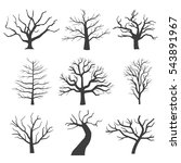 dead tree silhouettes. dying... | Shutterstock .eps vector #543891967
