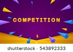 competition banner. triangle... | Shutterstock .eps vector #543892333