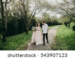 loves and very happy  groom and ... | Shutterstock . vector #543907123