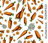 carrot hand drawn vector... | Shutterstock .eps vector #543909523