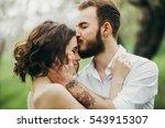 portrait of beautiful bride and ... | Shutterstock . vector #543915307