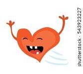 cartoon valentines day romantic ... | Shutterstock .eps vector #543923227