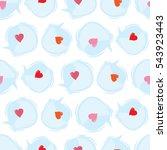 seamless valentines day... | Shutterstock .eps vector #543923443