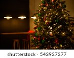 christmas tree with toys  gifts ... | Shutterstock . vector #543927277