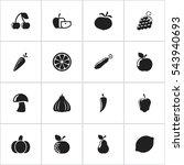 set of 16 editable cooking... | Shutterstock . vector #543940693