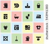 set of 16 editable cleaning...