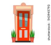 the beautiful front door.... | Shutterstock .eps vector #543945793