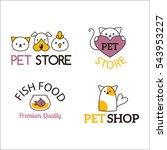 Stock vector pet shop symbols vector 543953227