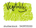 images of vegetables painted on ... | Shutterstock .eps vector #543955333